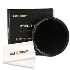 55mm Slim Adjustable ND Lens Filter Fader Variable ND2 to ND400 Neutral Density