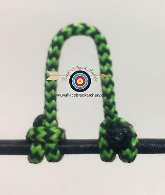 Lot de 5-moucheté Flo Vert//Noir Tir à L/'Arc libération Bow String Boucle D BCY #24