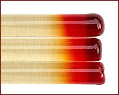 4//5mm Effetre T076 Transparent Glasstäbe zum Perlenmachen Anlauf Rot