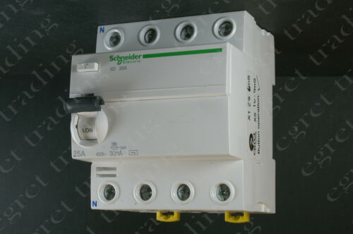 Schneider Merlin Gerin ACTI 9 ikq 30mA RCCB RCD Disyuntor 4P Nuevo-Probado