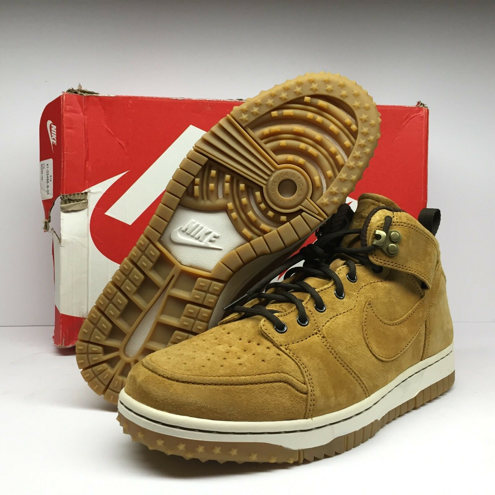 NIKE Men's Dunk Comfort Sneakerboot Wheat Sail Baroque Brown 805995-700 SZ 9