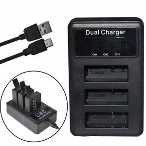 Cámara dual batería-cargador para Eko Full HD 1080p WiFi ultra hd 4k WiFi HD 720p