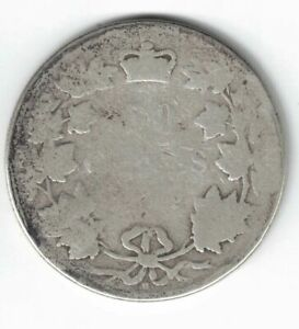 CANADA-1872H-50-CENTS-HALF-DOLLAR-QUEEN-VICTORIA-CANADIAN-STERLING-SILVER-COIN