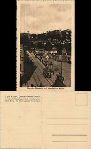 Weißer Hirsch-Dresden Cafe Faust - Straße, Straßenbahn Schillerplatz 1922