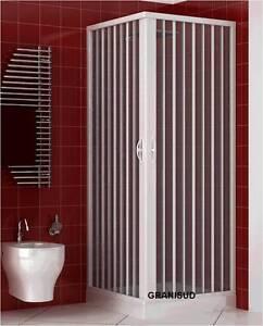 duschkabine kunststoff 2 seiten eck ffnung 2 faltt ren duschabtrennung 90x90 cm ebay. Black Bedroom Furniture Sets. Home Design Ideas