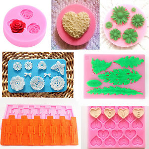 Cake Art Candy Molds : Silicone Fondant Molds Sugar Art Moulds DIY Candy Cake ...