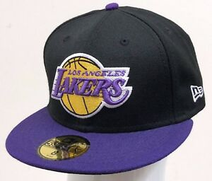 4dd9c8a9d36 NEW ERA 59FIFTY FITTED 2TONE NBA LOS ANGELES LAKERS Black Purple ...