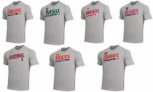 3f290e4606 Details about NCAA Team Under Armour Tech Polyester Mens Gray Heather  T-Shirt