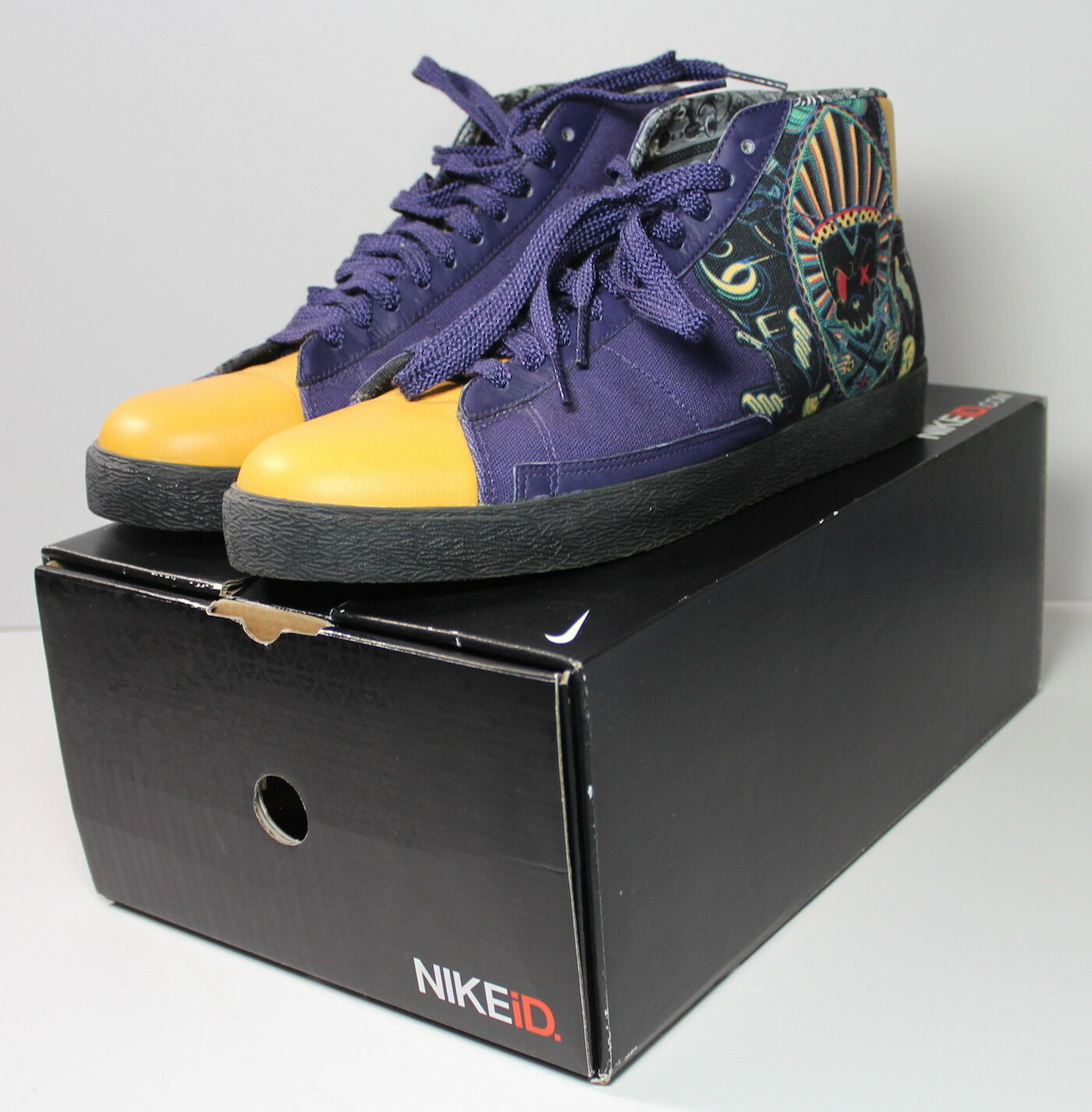 Nike ID South African Men's 13 Artist Kronk Limited Edition RARE Shoes EUC w BOX