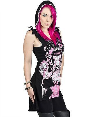 TOO FAST TATTOO Zombie corset SArina SKULL GOTHIC PUNK HOODIE DRESS TUNIC SHIRT