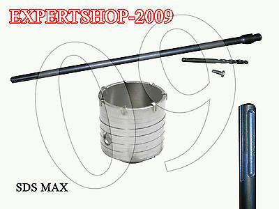 Collezione Qui Fresa A Tazza Mm 70 Carotatrice + Asta Sds Max 1000 Mm