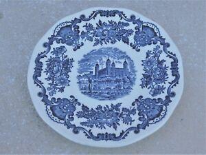 Tunstall Ltd Vintage English blue and white coffee or tea pot Royal homes of Briton Enoch Wedgewood