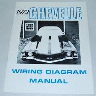 1972 Chevrolet Chevelle Wiring Diagram Manual | eBay