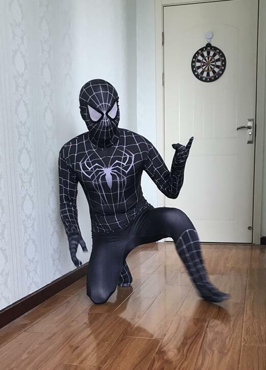 Venom Black Spiderman Costume Tights Zentai Suit for Boys Girls or Adult