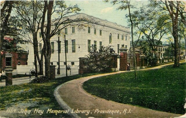 Providence Rhode Island~Drive & Gate~John Hay Memorial Library~1912 Postcard