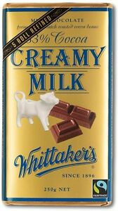 Details About Whittakers Creamy Milk Chocolate Block 250g