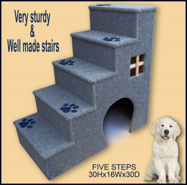 30 Inches Tall Wooden Dog Steps Pet Stairs Doggy