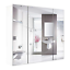Bathroom-Wall-Mirror-Cabinet-3-Mirror-Door-Kit-Mirrored-Medicine-Toilet-Storage thumbnail 1