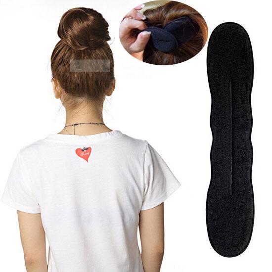 1 Piece Women Magic Sponge Hair Styling Tool Bun Maker Girl's Curler Donut Hot