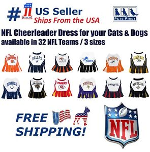 70f2807d Details about NFL Cheerleader Outfit for Dogs/Cats. 32 Football Teams, 3  Sizes. Licensed, NEW!