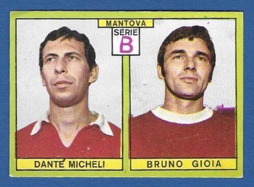 MICHELI//GIOIA MANTOVA RECUPERO FIGURINA CALCIATORI PANINI 1968//69