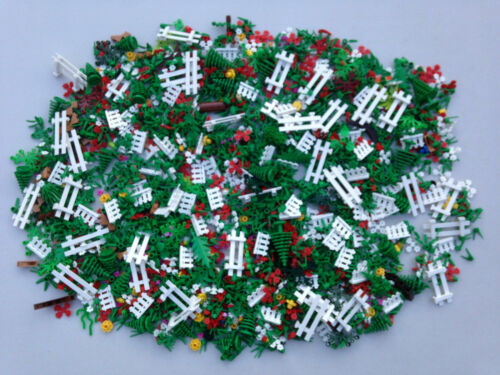 LEGO 250 NEW Random Pieces Of Garden Accessories Plants Flowers Grass Stem Fence