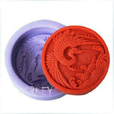 Crane S041 Silicone Soap mold Craft Molds DIY Handmade soap mould