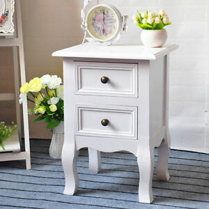 Shabby-Chic-Small-White-Bedside-Table-Unit-Cabinet-Nightstand-2-Drawer-Storage