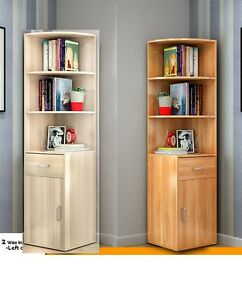Image Is Loading 1 6m Wooden 3in1 Corner Book Shelf Bookcase
