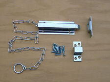 """6"""" Chain Slide Bolt Latch Spring Loaded - Hardware For Double Doors"""