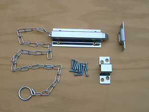 6 Quot Chain Slide Bolt Latch Spring Loaded Hardware For