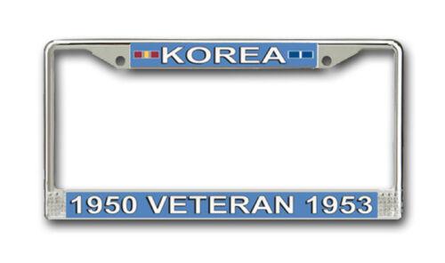 American Made Army Korea Veteran License Plate Frame Veteran Approved!