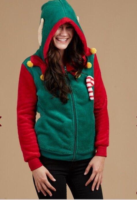 New ALTAR'D STATE L Large Wubbie ELF Christmas Sweater Fleece Hoodie