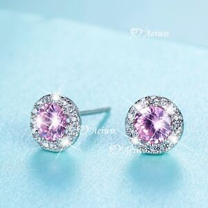 925-sterling-silver-made-with-Swarovski-crystal-stud-earrings-round-pink-0-5ct