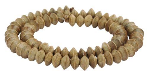 Indien silbergrauholz ronds ~ 9x5 mm perles Brin perle nature h.si-19