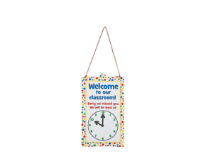 NEW-Magnetic-Classroom-Door-Sign-will-be-back-w-clock-14-75x8-5-in-teacher-aid