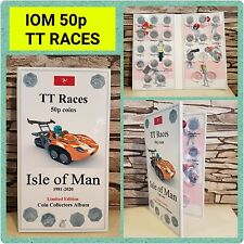 50p 1981-2020 IOM TT Legends -  TT Races coin collector album Isle of Man