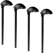 Paradise GL22682BK Low Voltage Aluminum 7W Deck Light Black, 4 Pack