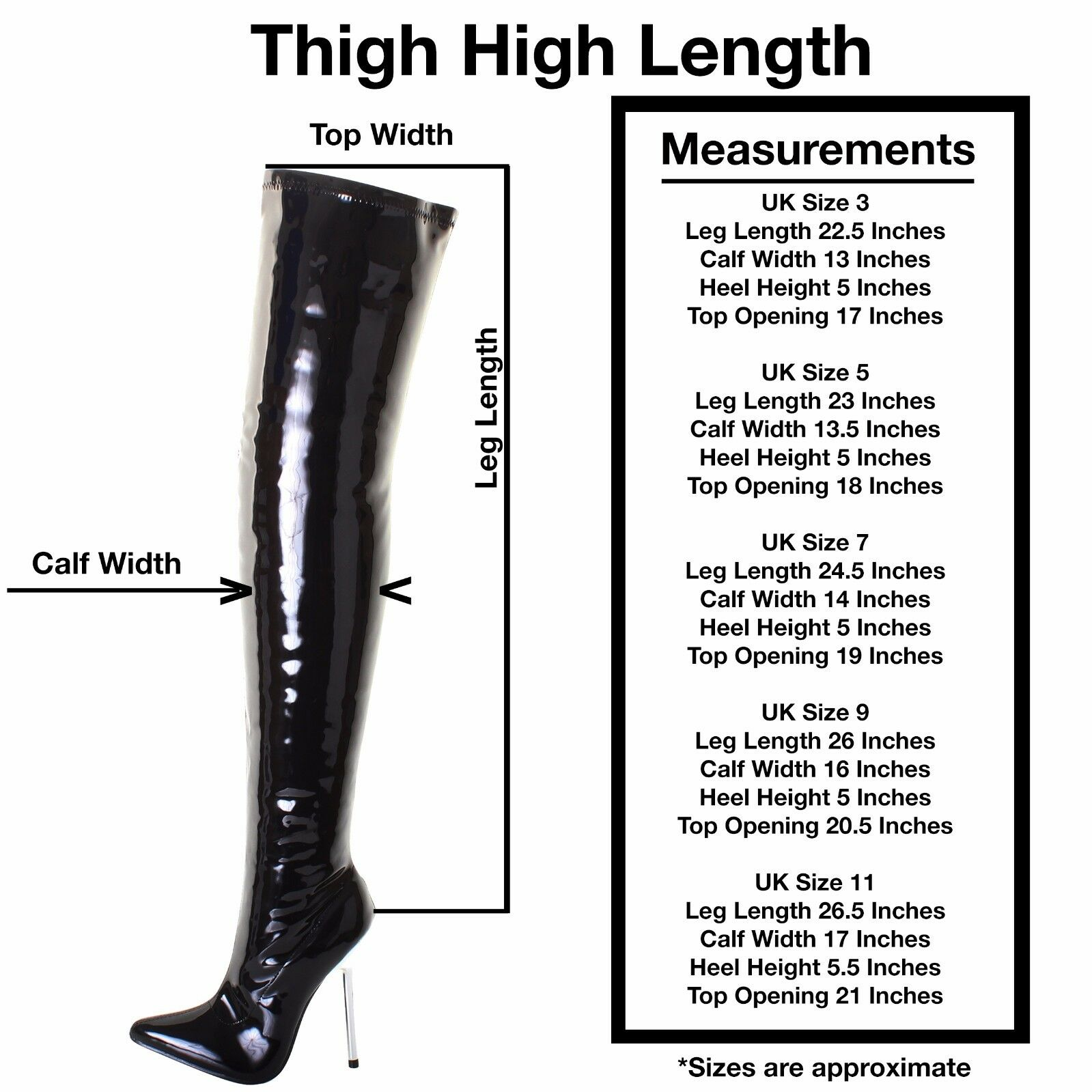 Womans Sexy Patent Stretch Fetish Over The Knee Thigh High Heel Stiletto Stiefel