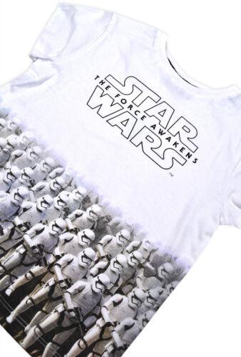 Boys Star Wars T-shirt Kids Short Sleeve 100/% Cotton Disney Top Ages 1.5-8 Years