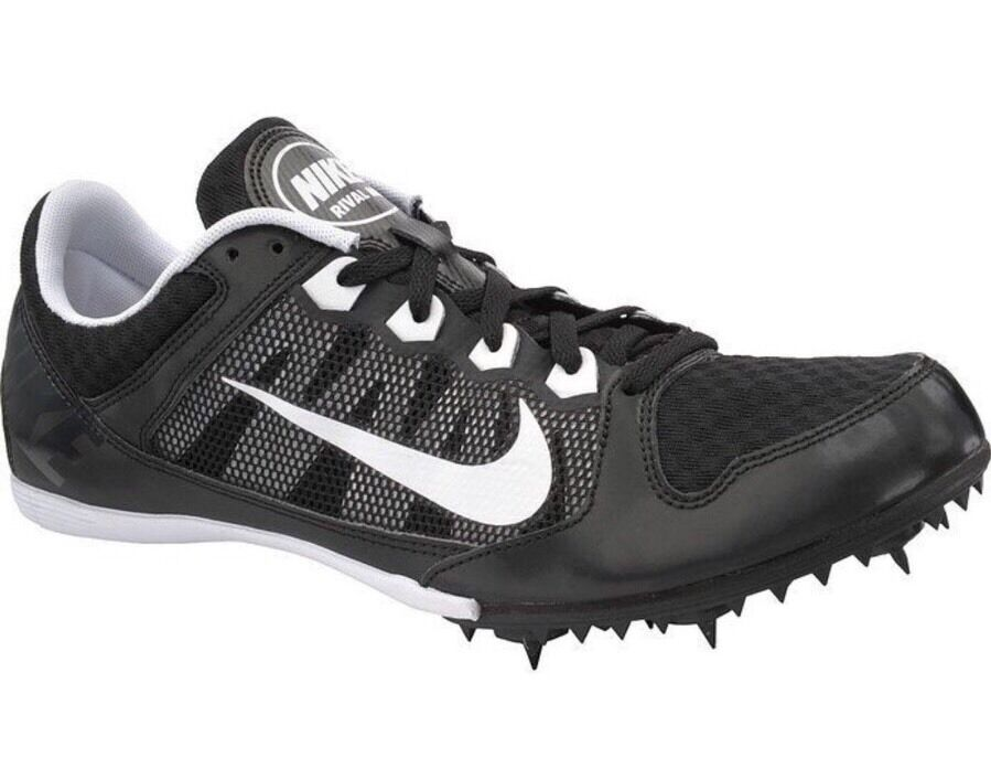 Nike Zoom Rival MD Mens Track Shoes Multi Use Spikes Black White 14 15 New