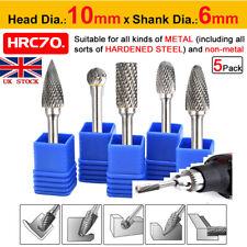 8MM 5 Head Tungsten Carbide Rotary Point Burr Die Grinder 6mm Shank Bit Set BI44