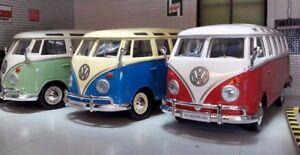 VW-Pare-brise-Divise-T1-Camping-car-Samba-Bus-Maisto-1-25-24-Echelle-23-Fenetre