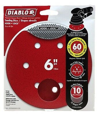 Diablo DCD050100H04G 5 in 100-Grit Universal Hole Random Orbital Sanding Disc