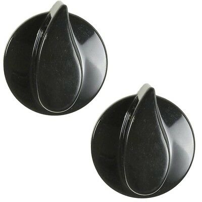 Belling Oven Cooker Hob Gas Flame Control Knob Black, Pack of 8