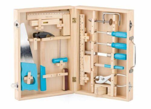 Kinder Werkzeugkoffer Werkzeugbox Kinderwerkzeug Box Koffer Set Satz Kasten Holz
