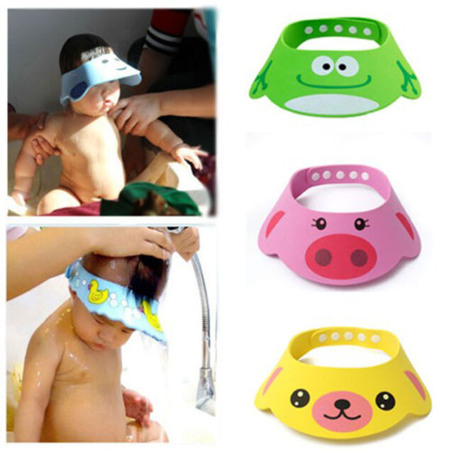 Bathroom Soft Shower Wash Hair Cover Head Cap Hat for Child Toddler Kids Bathing