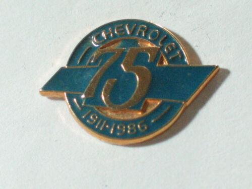 ** Chevrolet 75th Anniversary Pin  1911-1986 Pin