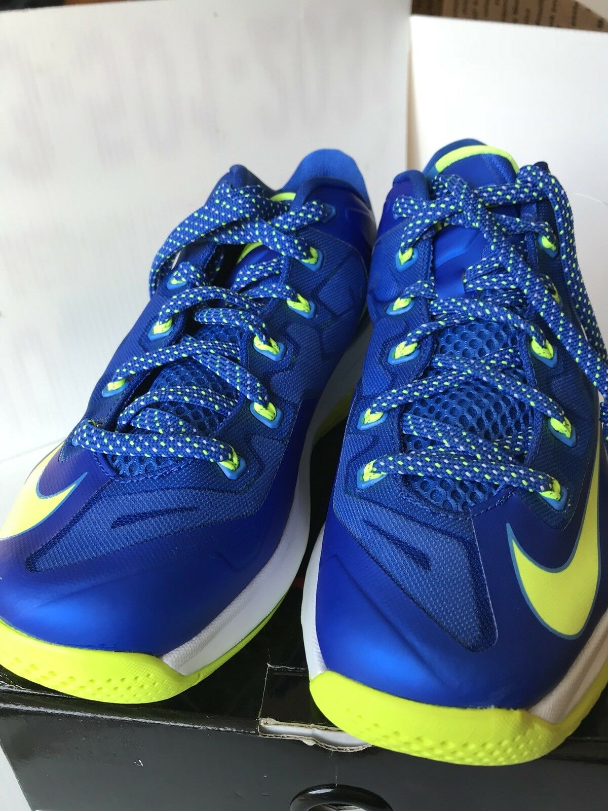 Nike Air Lebron 11 XI Low Sprite Blue BRAND Volt 642849-471 Size 8.5 BRAND Blue NEW In Box 03eecd