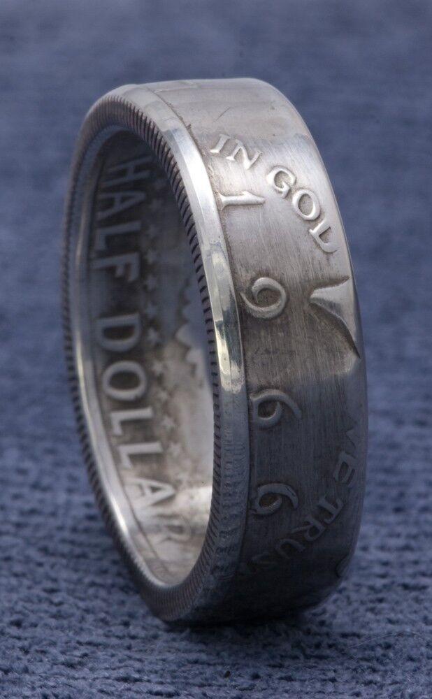 55th Birthday 1966 Silver Half Dollar Heart Keychain 55th Birthday Gift 55th Anniversary Coin Jewelry made from a 1966 Kennedy Half Dollar